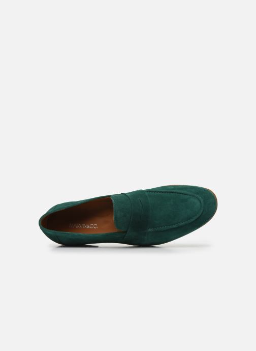 Mocasines Marvin&Co Newmoc Verde vista lateral izquierda